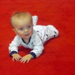 They rolled out the red carpet for Sullivan to crawl around on