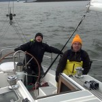 I crewed for Marc and sailed with Dave aboard Thumper during a Sunday race. We came in first place for our fleet.