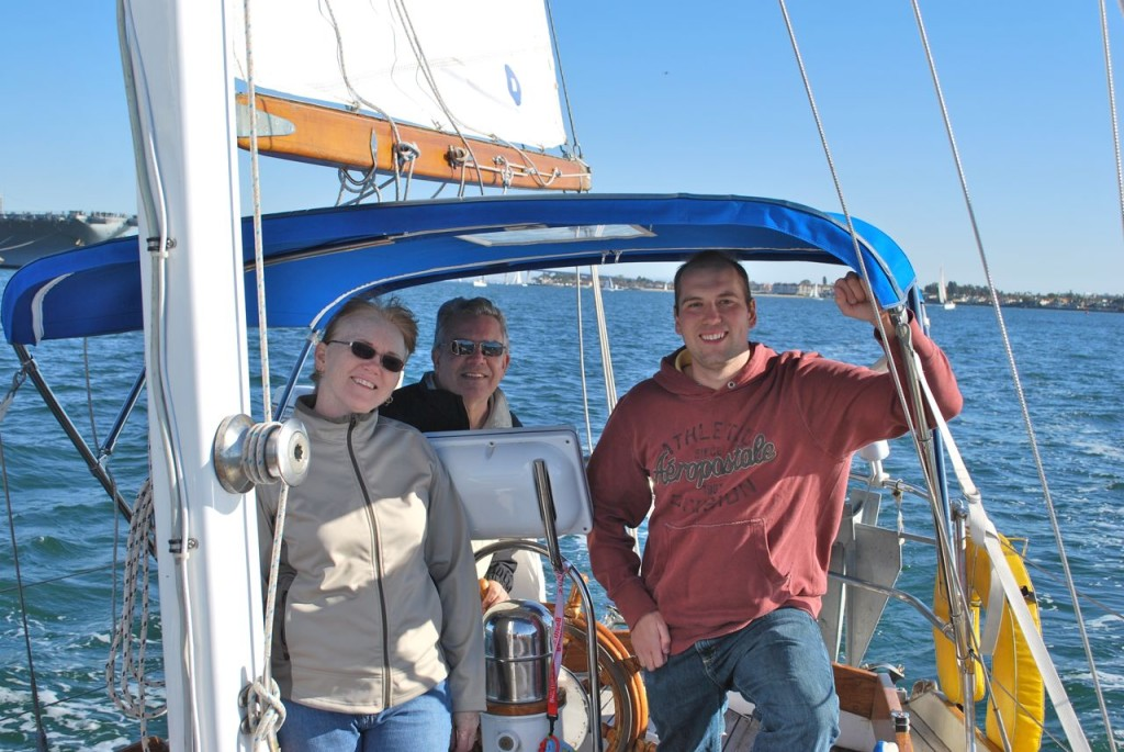 We effortlessly tacked up the bay. It's great having experienced crew aboard!