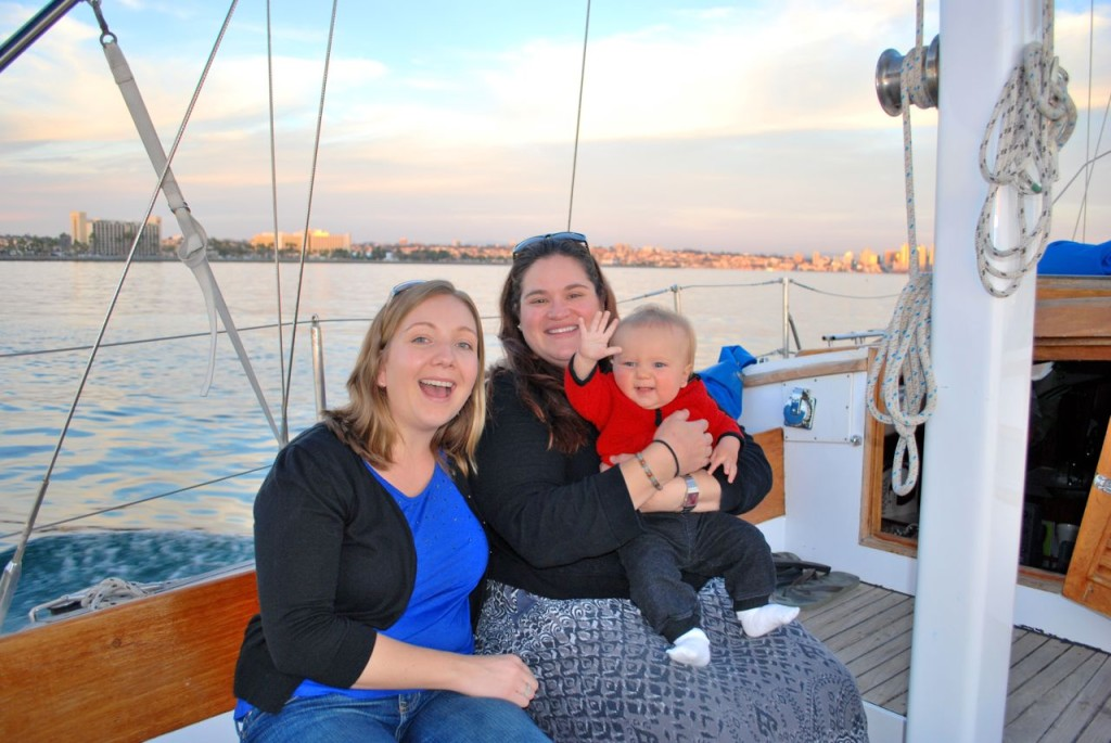 Natalie, Amy and Sully enjoying the sunset cruise