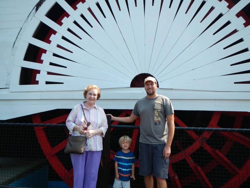 Visiting the paddle steamer at the Civil War Naval Museum in Columbus, GA