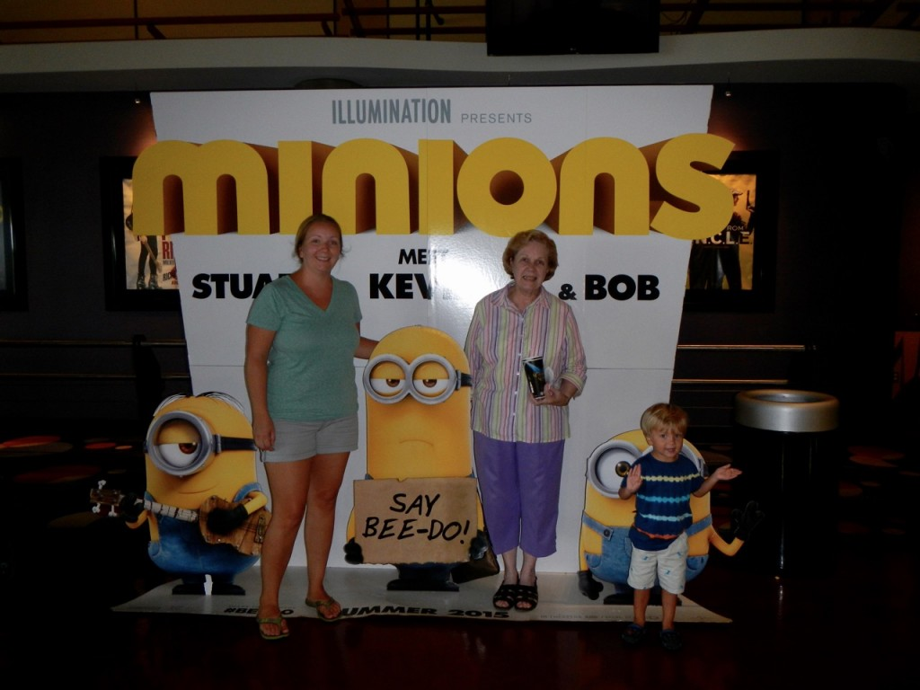 We went to see the Minions movie with Sully's Great Grandma Ferring