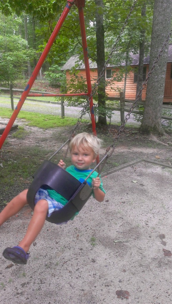 We took time to swing and play at the KOA