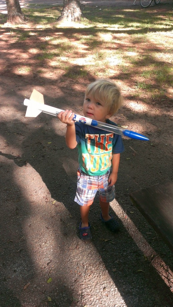 We built complete rockets from the parts we found littering the RV Park at The U.S. Space and Rocket Center RV Park