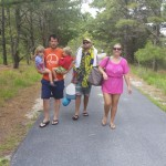 Heading back from the beach