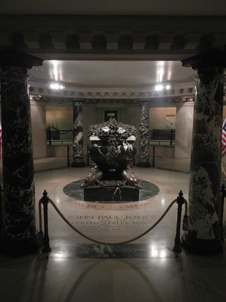 The crypt of John Paul Jones, father of the American Navy