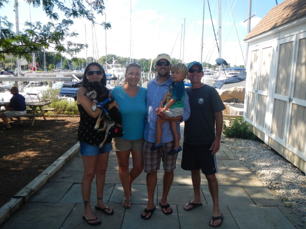 Dockside with Fran, Jade and Rob from S/V Oasis