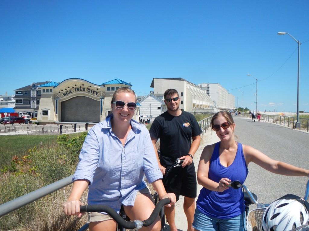 Natalie, Matt and Anna on our bike ride