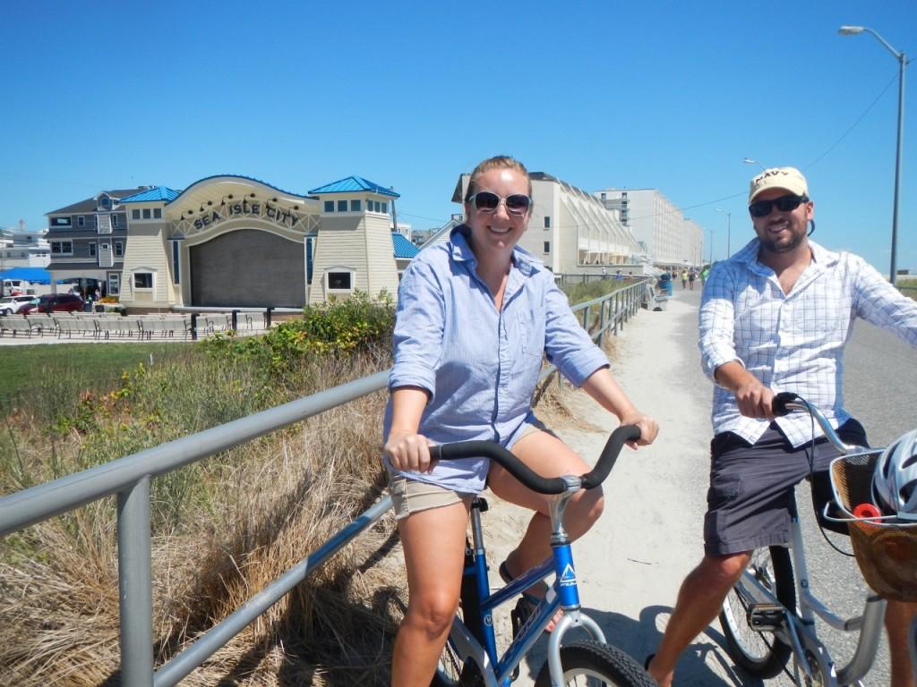 We were serious beach cruising cyclists