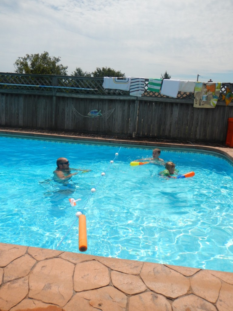 Swimming with the kids