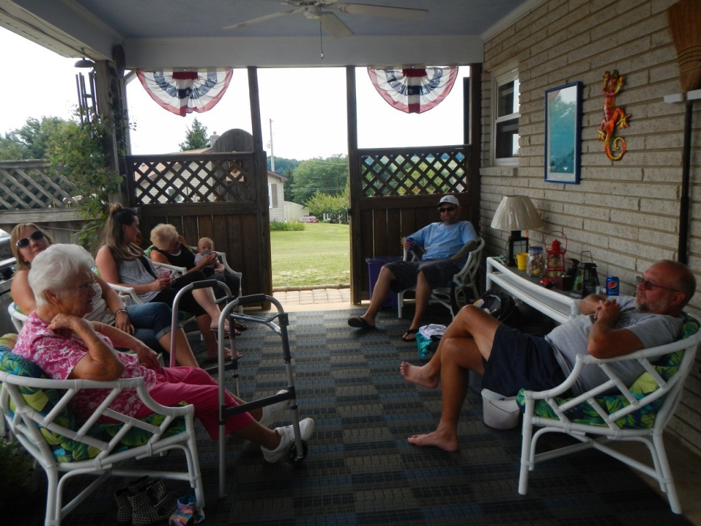 Chilling on the back porch at Uncle Barry's
