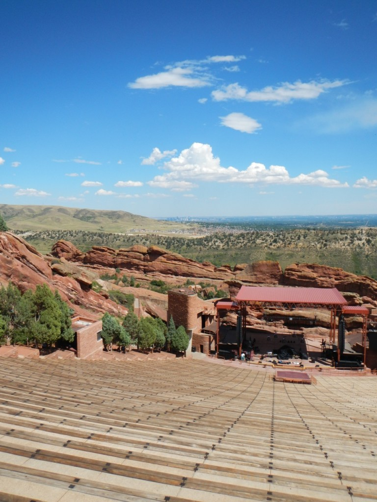 It would be awesome to see a concert at the Red Rocks Amphitheater