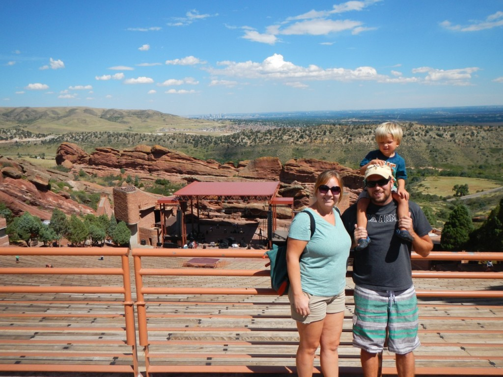 Family photo at the Red Rocks