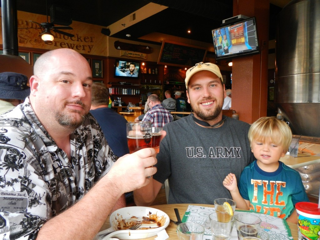 Cheers at Tommyknocker Brewery in Idaho Springs, CO