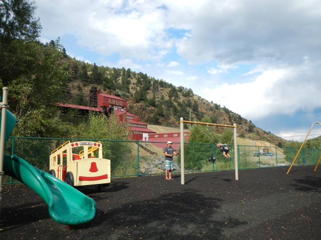Playing at the park in Idaho Springs