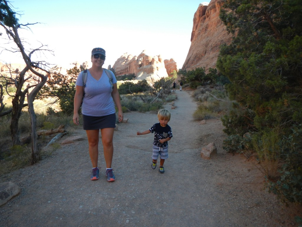 On the trail to Landscape Arch