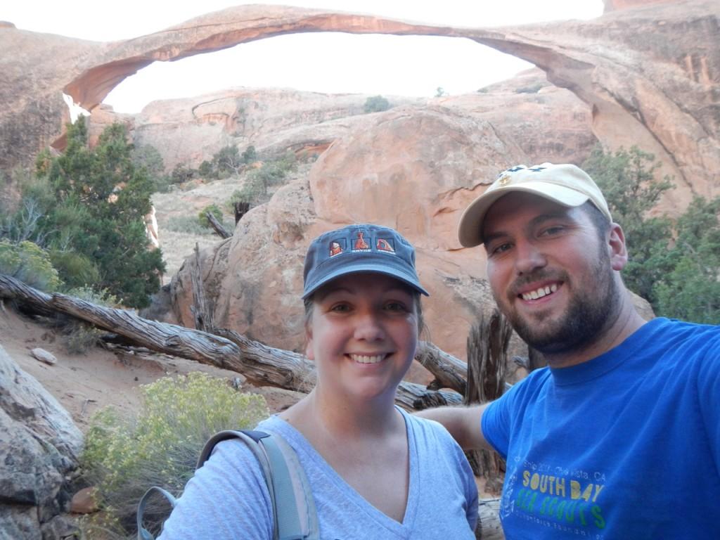 Natalie and I at Landscape Arch