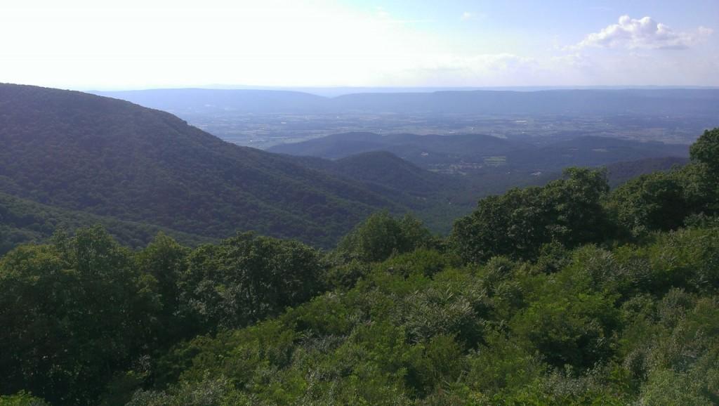 Green mountain views