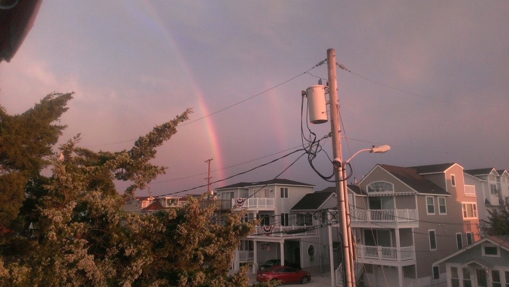 And later a double rainbow