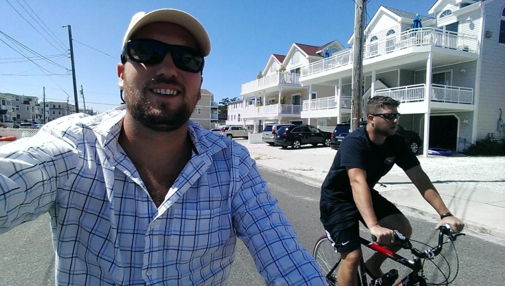 Beach cruising on bikes