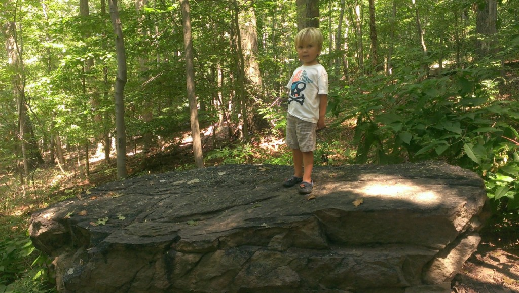 Sully did well on the hike but needed lots of encouragement to keep going. He also wanted to climb EVERY rock we passed