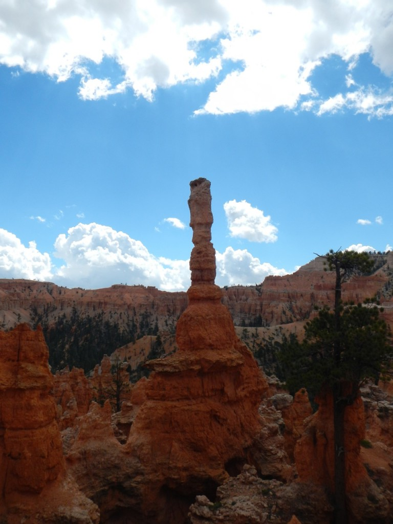 The rock formation known as a hoodoo