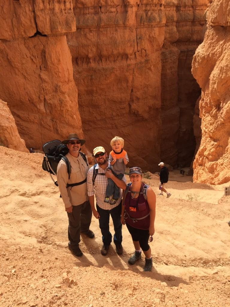 Hiking down in to the hoodoos