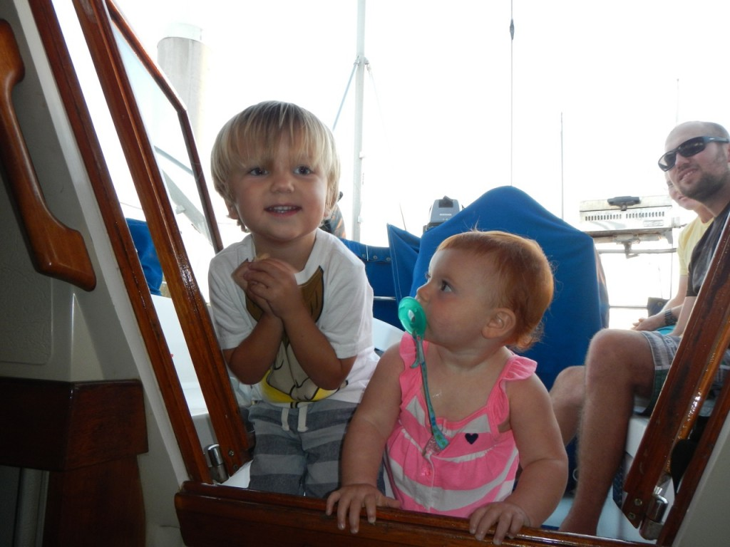 We stopped by our friends Chris and Claudia's boat to see how much their daughter Emma has grown up since we left last October.